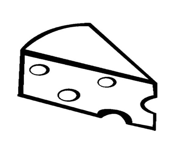 Sliced Cheese Coloring Page For Kids Coloring Pages For Kids Coloring Pages Color