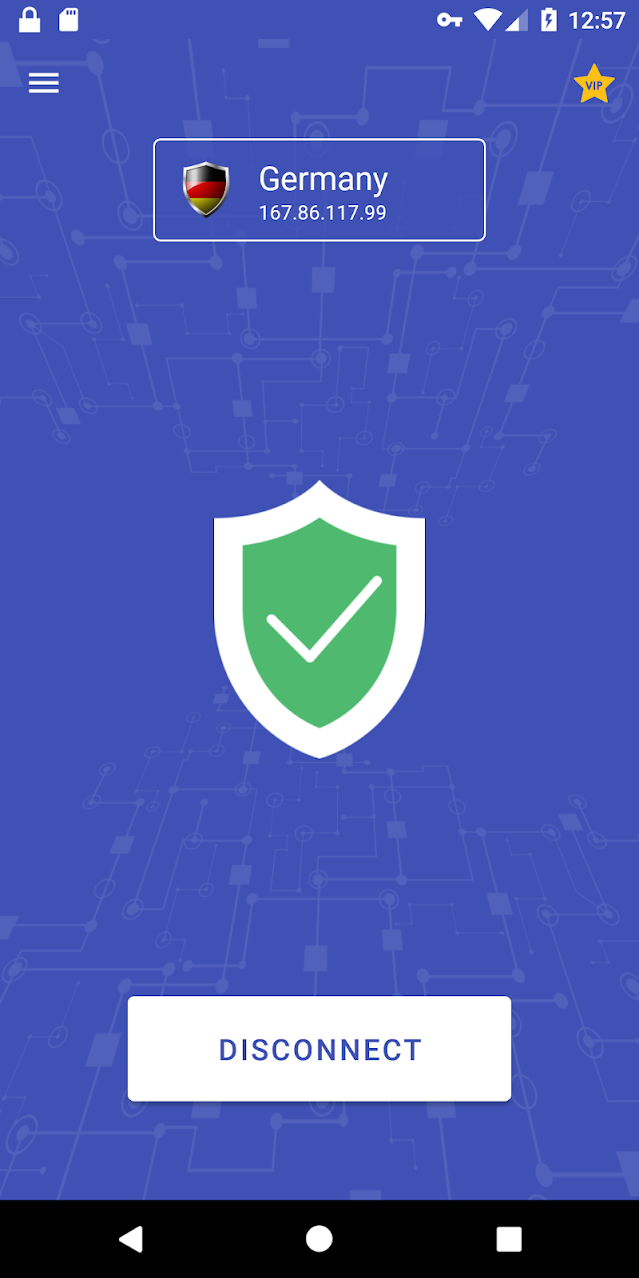 Vpn One Click is a simpletouse free app by Kryptotel fz