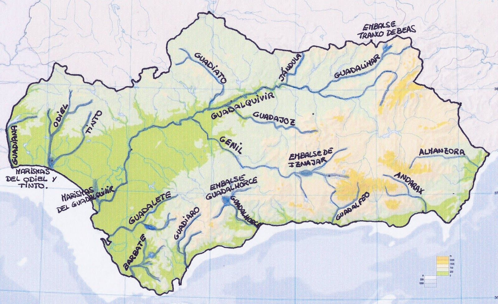 Mapa Rios De Andalucia.Sociarrecife Principales Rios De Andalucia Andalucia Imprimir Dibujos Para Colorear Ensenanza Aprendizaje