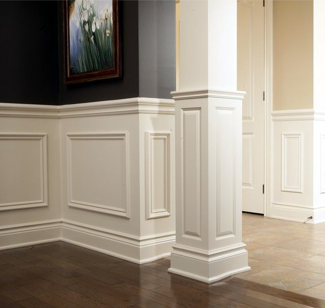 Sketch Of Chair Rail Molding Ideas: Simple Sophistication To Add Texture On  Plain Wall