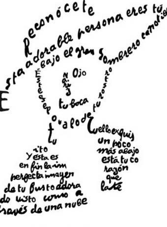 Dibujos De Escritores Caligramas Ejemplos De Caligramas Y