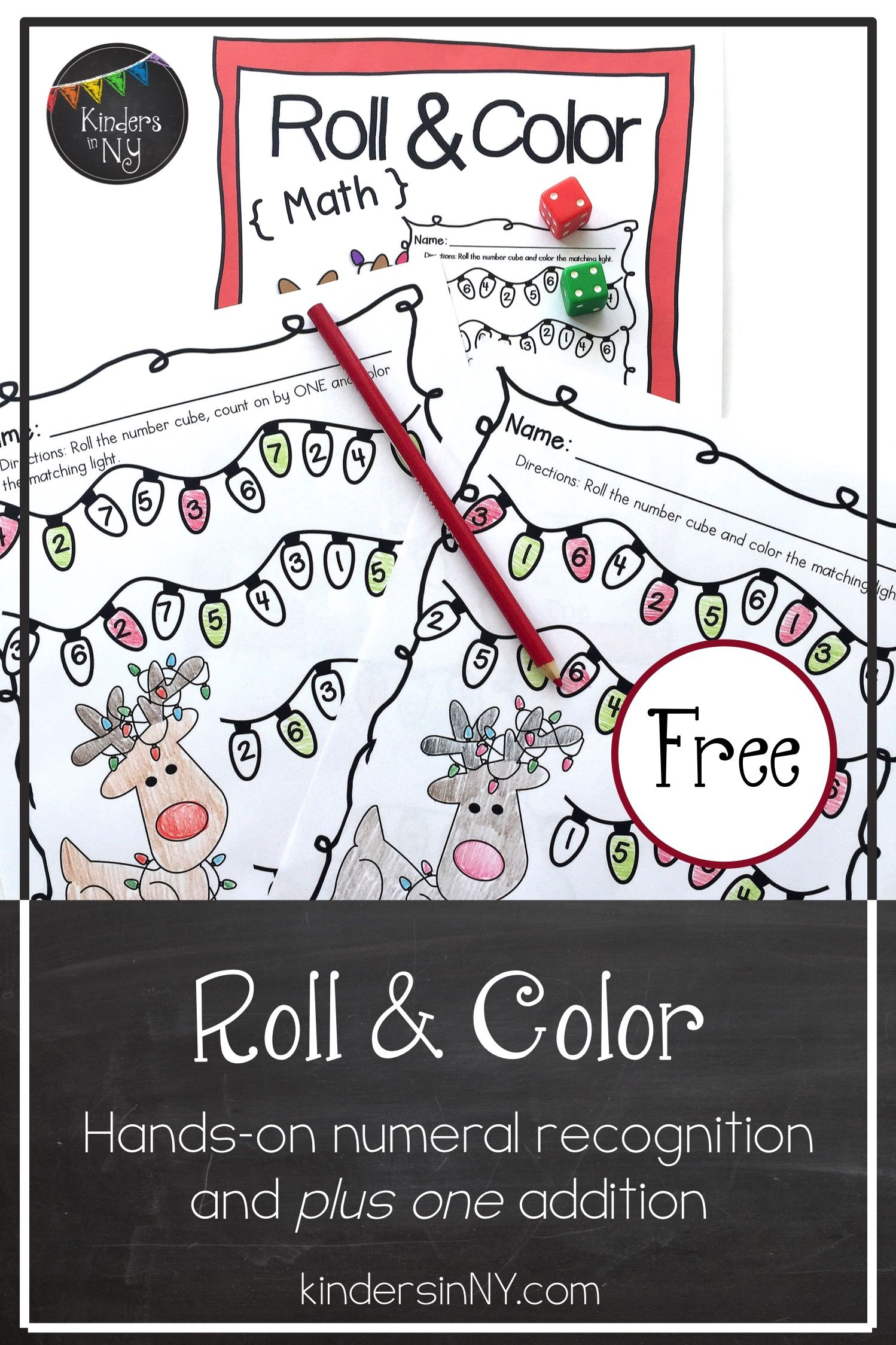 Number Recognition And Plus One Roll Amp Color Math