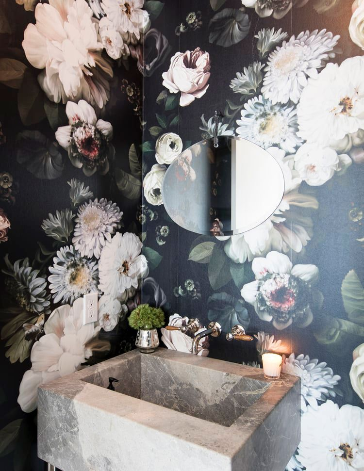 These Chic Wallpapered Bathrooms Will Convince You To Take The Plunge Bathroom Design Luxury Bathroom Wallpaper Eclectic Bathroom
