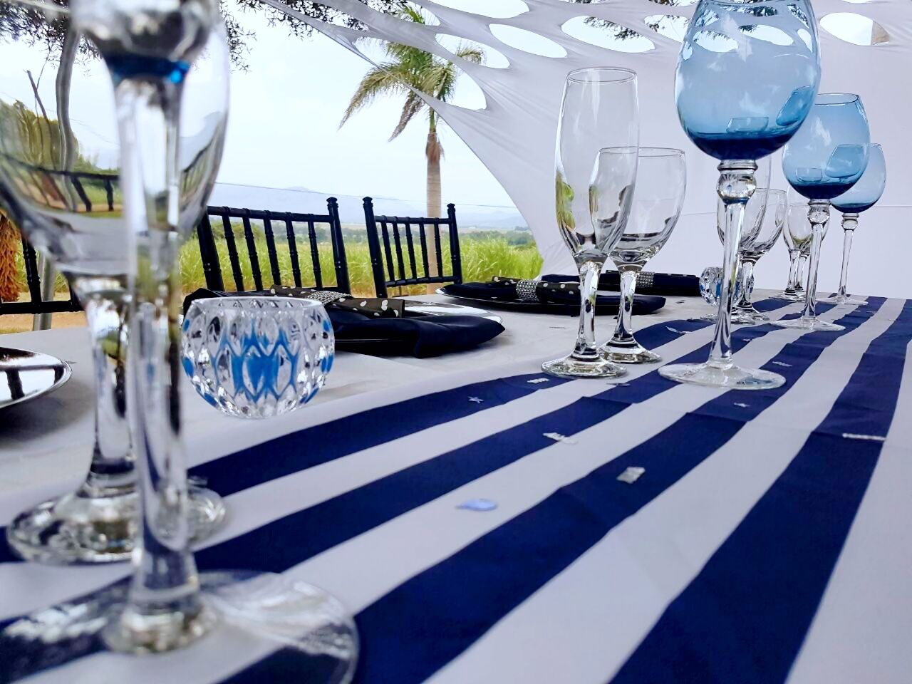 Black Navy Blue And White Party Decor Shongaevents White Decor