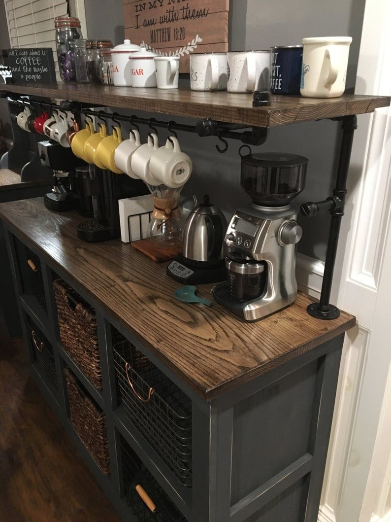 Eddie 3 Coffee Bar In 2020 Coffee Bar Home Home Coffee Stations Kitchen Decor