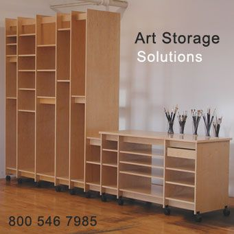 Take a look at art storage solutions there products are top notch artist studios craft - Organization solutions for small spaces paint ...