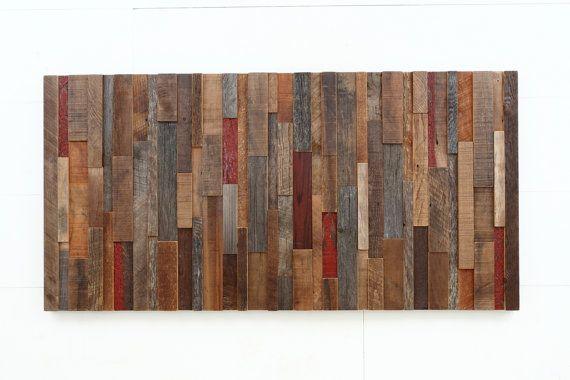 Wood wall art made of old reclaimed barnwood von CarpenterCraig