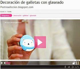 Postreadicción galletas decoradas, cupcakes y pops: Vídeos