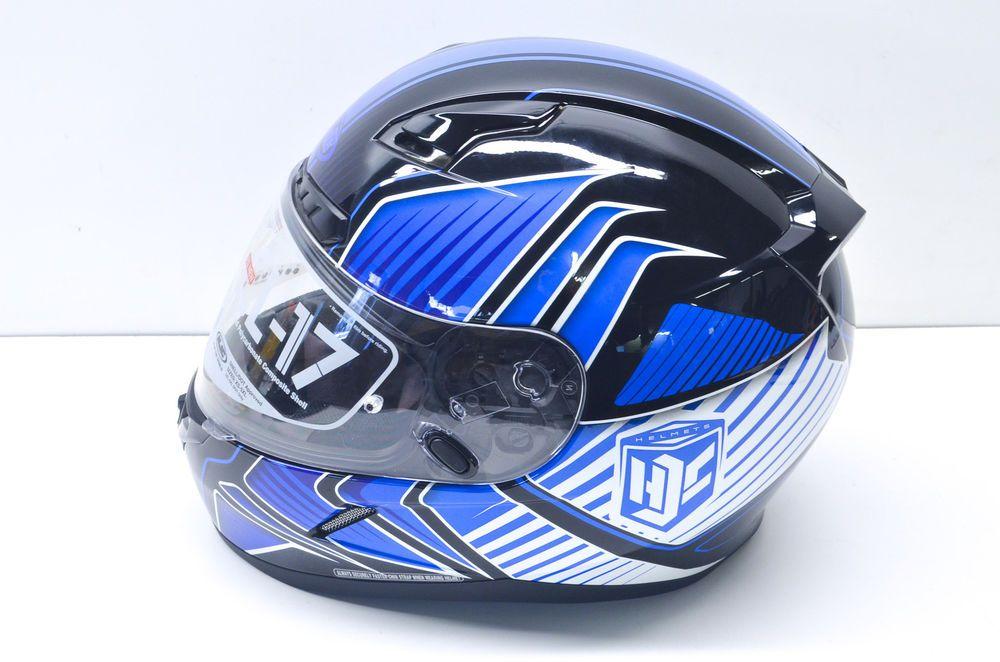 New HJC XL Black/Blue CL-17 Redline Helmet NOS | Motorcycle Gear and