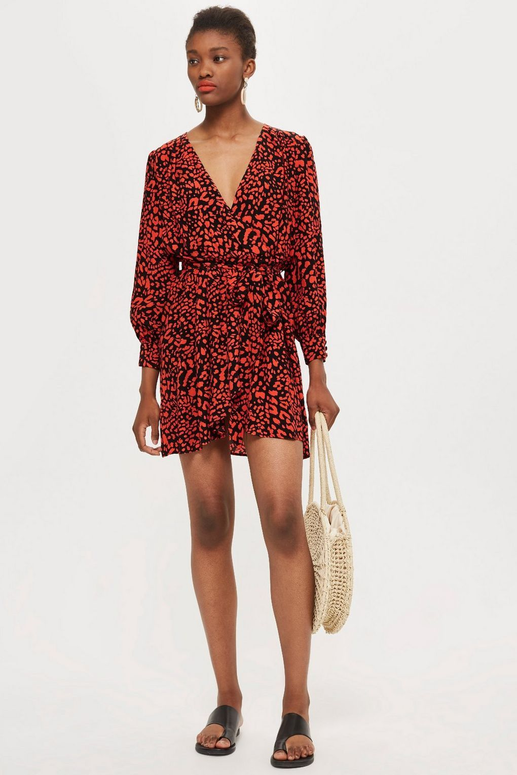 d7b95f62ed0 Animal Wrap Dress - New In Fashion - New In - Topshop Europe
