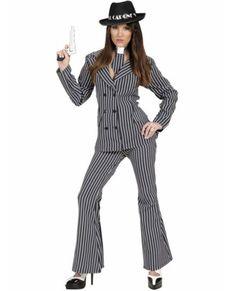 Disfraz De Gángster Mafiosa Para Mujer Disfraces De Gánster Traje De Fiesta Mujer Disfraz Mujer