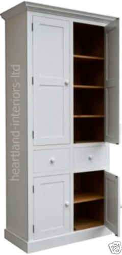 Best Details About 100 Solid Wood Cupboard 7Ft X 3Ft White 640 x 480