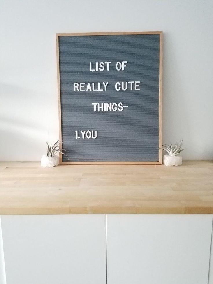 Letter board quote