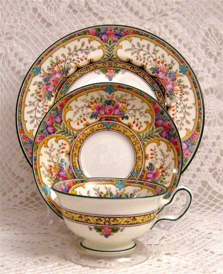 teacup saucer trio little things pinterest teetasse porzellan und tassen. Black Bedroom Furniture Sets. Home Design Ideas