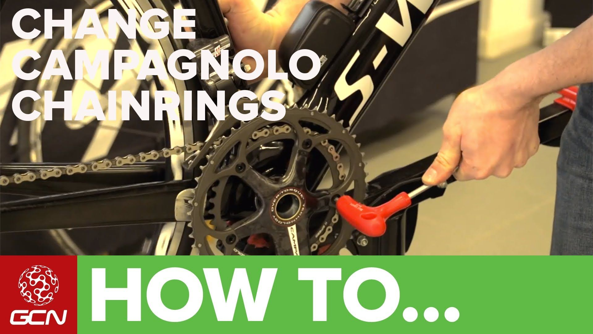 how to change campag chainrings
