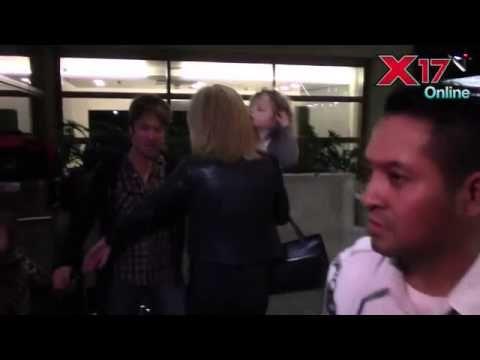 Nicole Kidman And Keith Urban With Kids At LAX