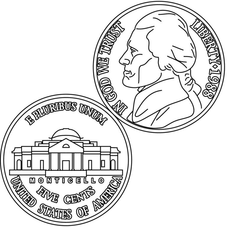- Dollar United State Of America Coin Clipart Coloring Page Sunday School Coloring  Pages, Coloring Pages, Coloring Pages For Kids