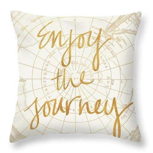 Enjoy The Journey Throw Pillow 6 Sizes Throw Pillows Pillow Quotes Dorm Pillows