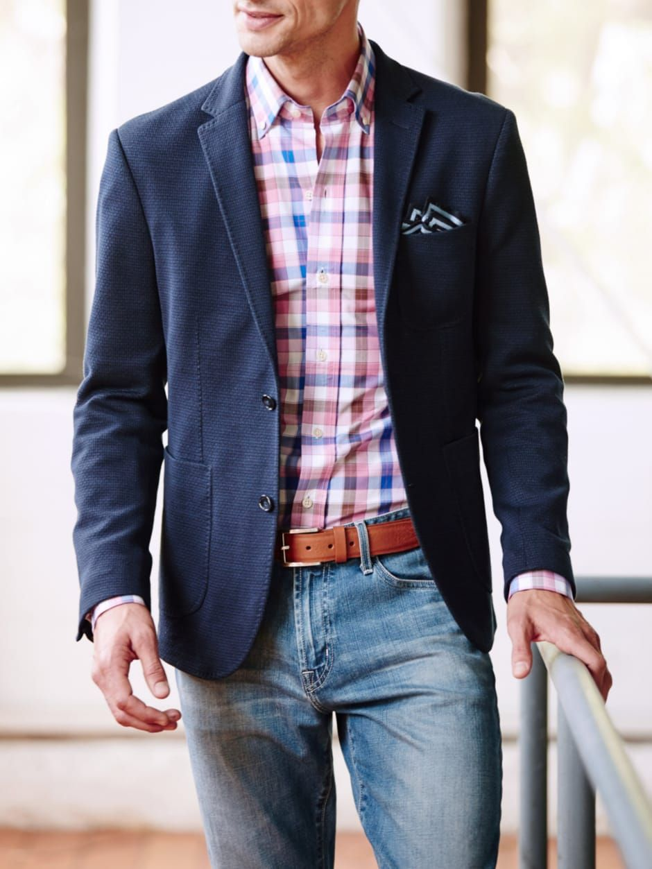 Light wash denim jeans Sports coat and jeans, Mens