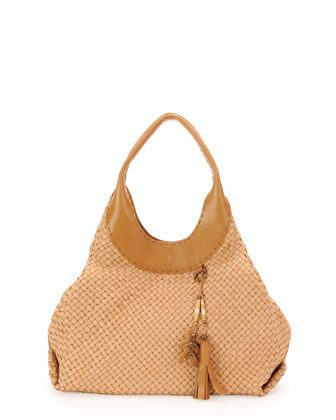 02e29e363 Vanessa Woven Leather Hobo Bag, Beige by Henry Beguelin at Neiman Marcus.  $1495