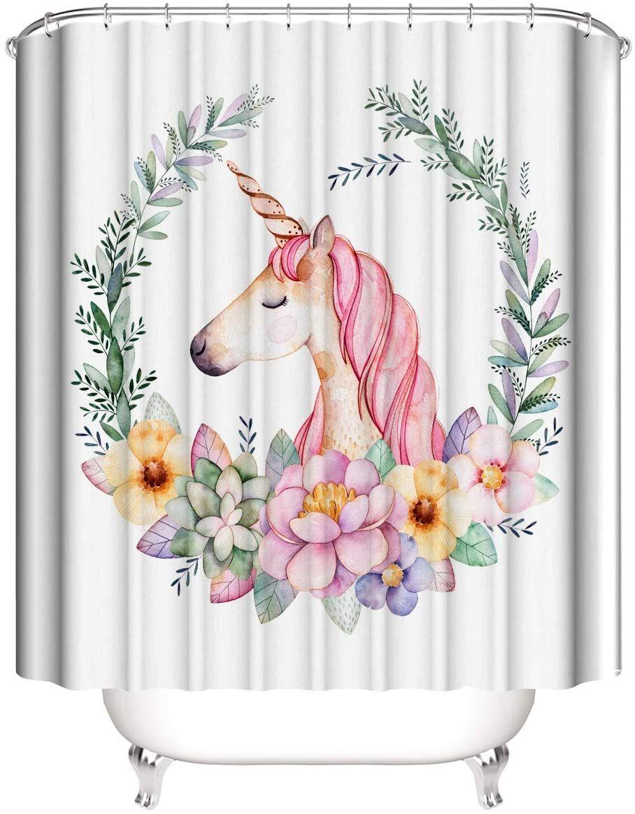 10 New Unicorn Bathroom Shower Curtain in 10  Bathroom shower