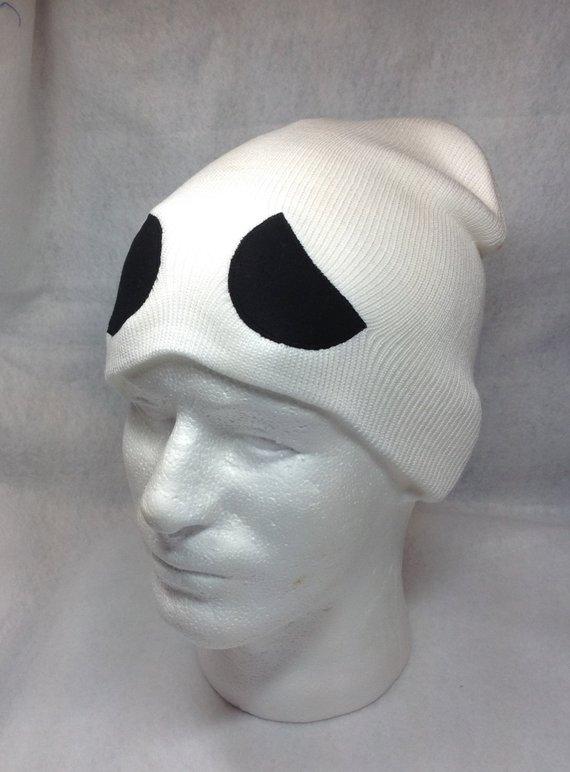 Pokemon Team Skull Symbol Skullcap Hat Grunt Character Cosplay Sun Moon  Game White with Black Eyes G 5d980393078b
