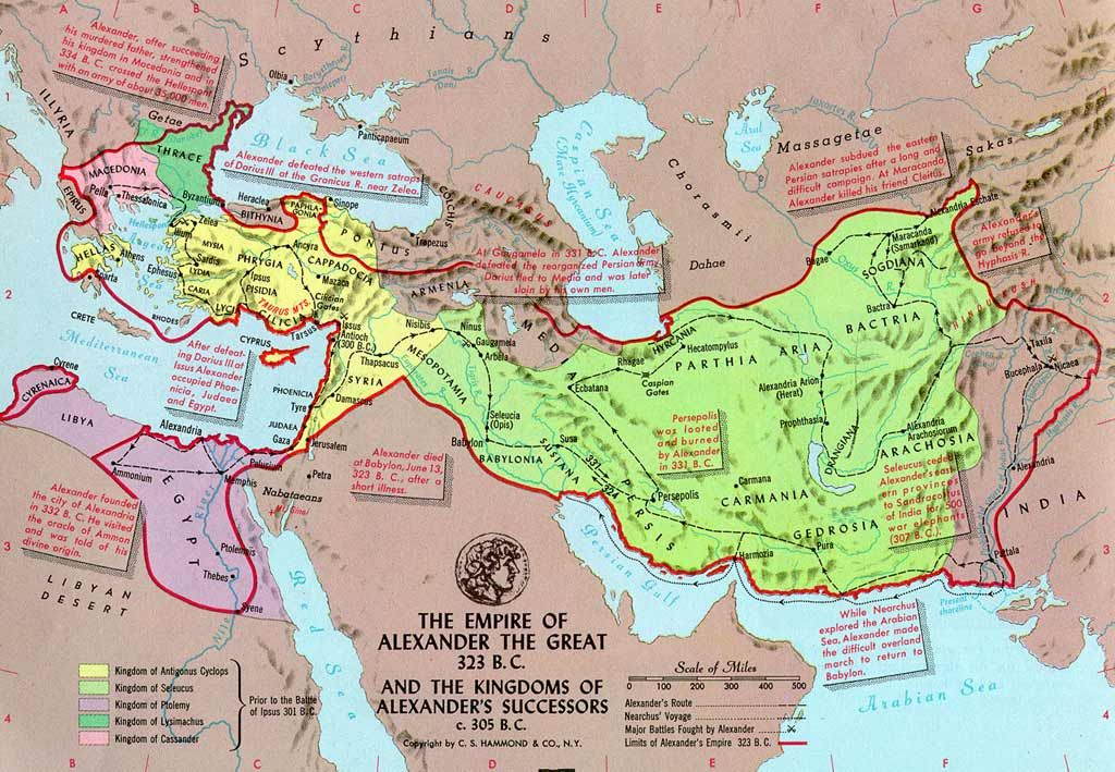 Map Of Alexander The Great S Conquests Map Historical Writing