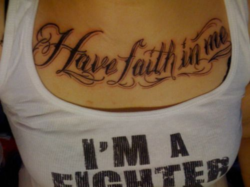 Have Faith In Me Tattoo