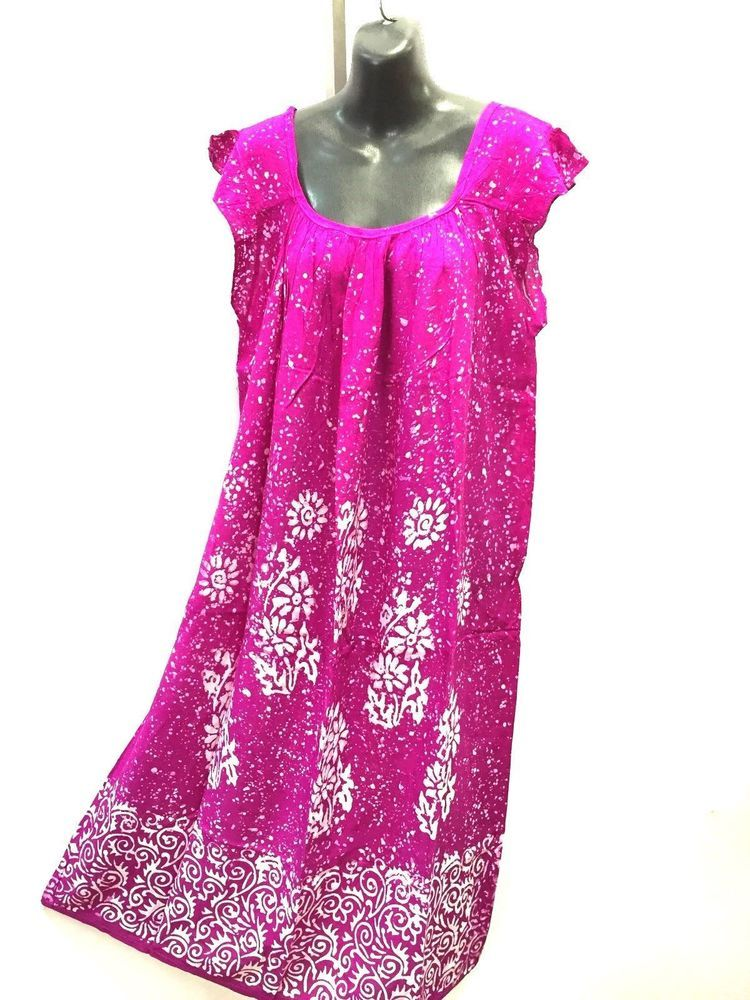 3747ae51ccce One size Purple Dress Hippy Batike Sundress Resort wear Size 16 18 20 22 24