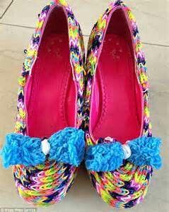 Rainbow loom heels