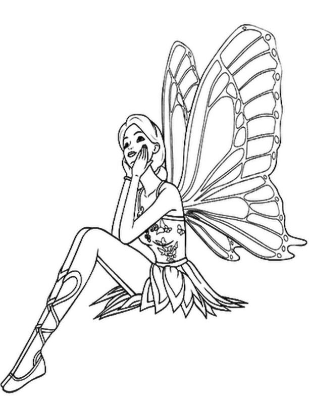 Free Printable Fairy Coloring Pages For Kids | Fairy ...