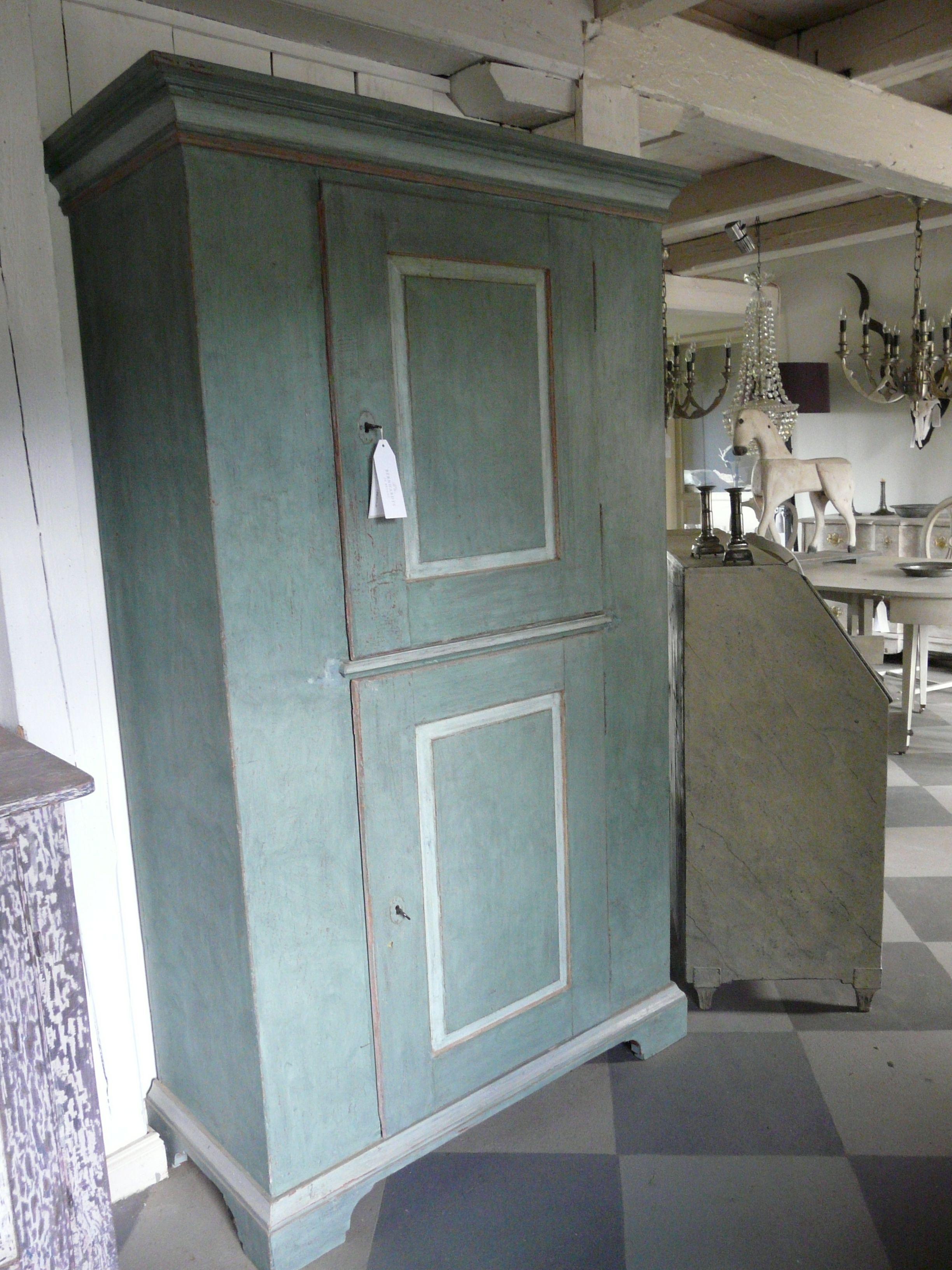 Antique Green Cupboard Mit Bildern Restaurieren Franzosischer Stil Antike Mobel