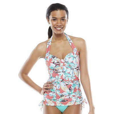 cb0d3c4732 Cute tankini from kohls | Fashion | Tummy slimmer, Swimsuits, Tops