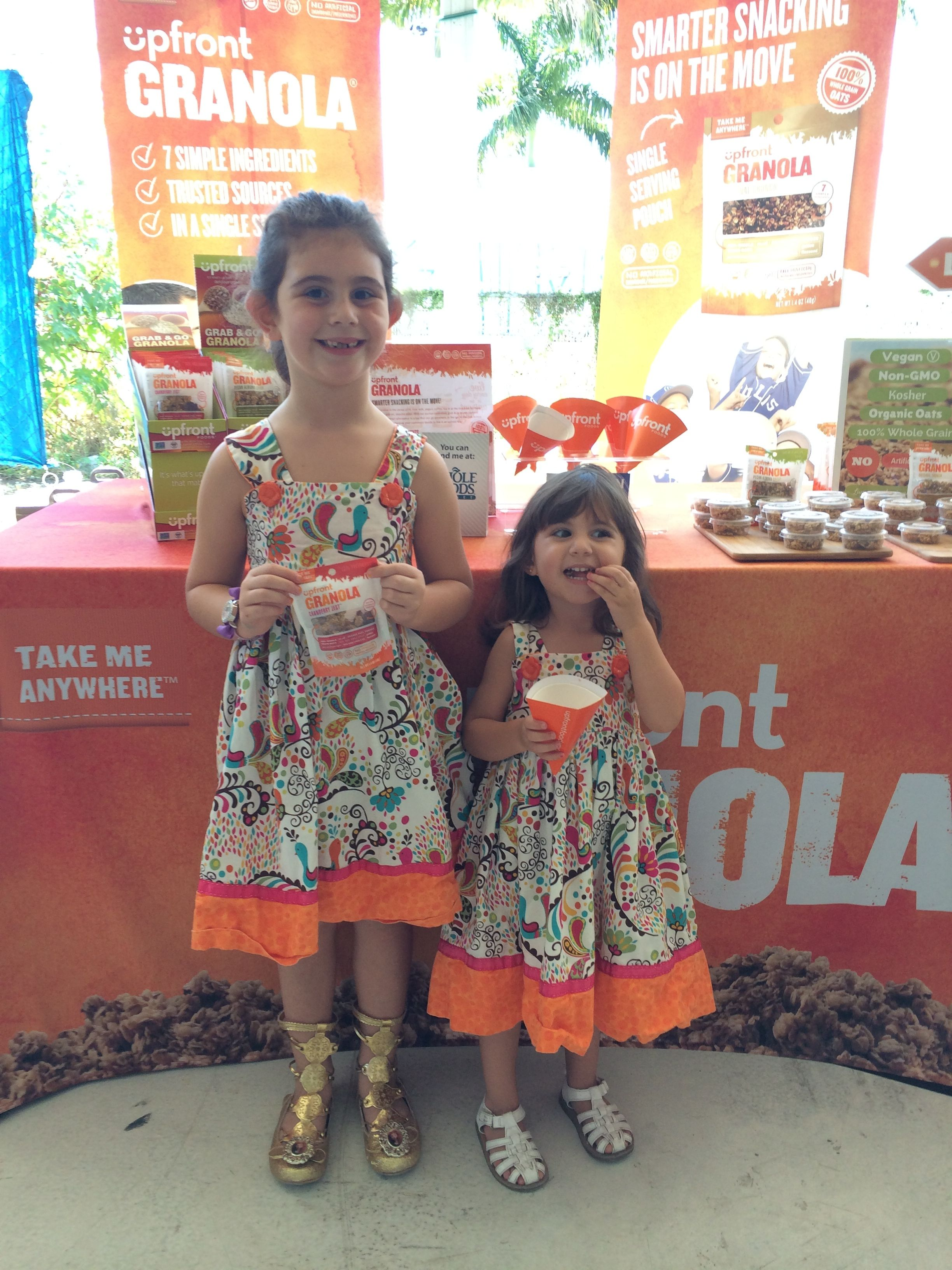 Kids love Upfront Granola at the SEED Food and Wine Festival, Miami, Vegan, Plant-Based, Healthy Snack for Kids