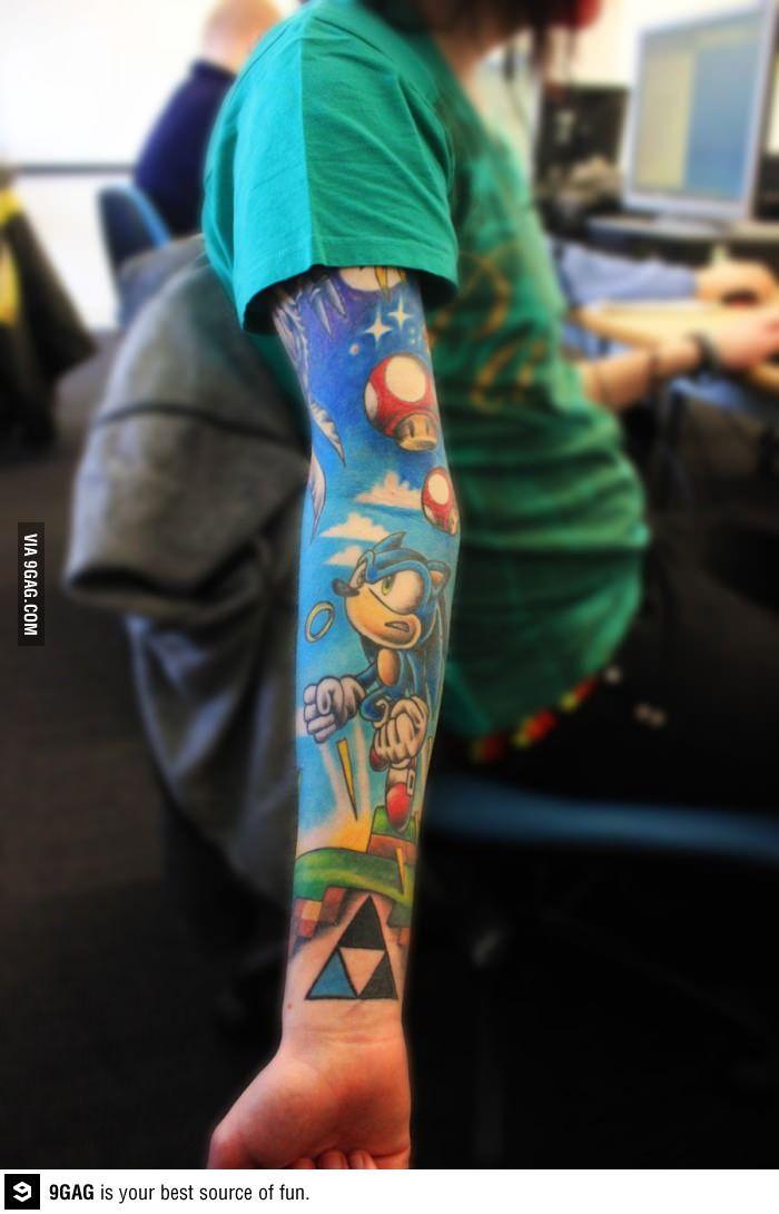 Cool Sonic, Mario, Zelda Tatto