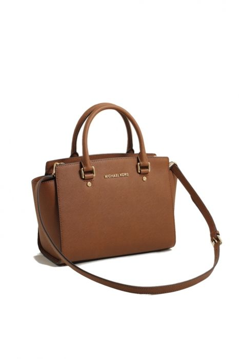 Michael Kors selma medium satchel bag luggage gold shop online ... 6bfad2a995f