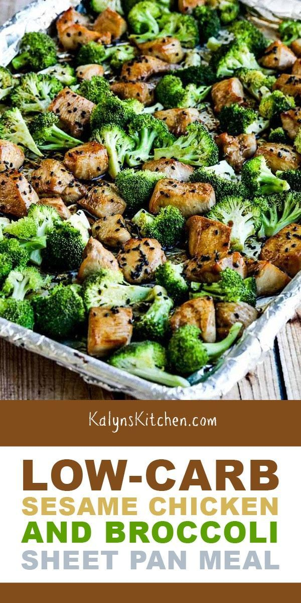 Low-Carb Sesame Chicken and Broccoli Sheet Pan Meal (Video) - Kalyn's Kitchen