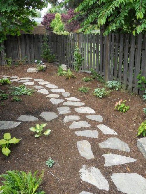 flagstone walkway gardenpathway garden pathway mulch on extraordinary garden stone pathway ideas to copy id=31373