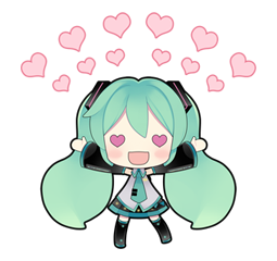 """Popular the world over. Virtual idol """"Hatsune Miku"""" debuts on LINE! Hip & cute Hatsune Miku stickers illustrated by """"putidevil"""" are now available!"""