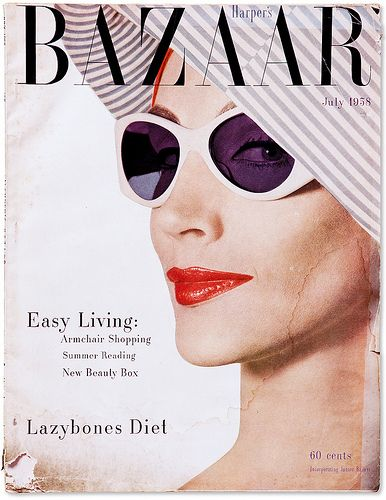 Vogue Cover 1950s Sunglasses Vogue Covers Vintage Fashion Photography Harpers Bazaar Covers