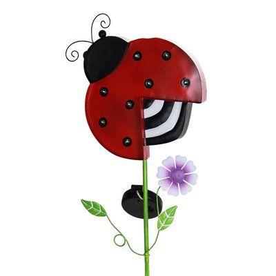 Exhart Solar Ladybug Marquee Garden Stake