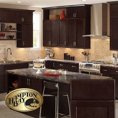 Dark Brown Kitchen Cabinets The Home Depot Chocolate