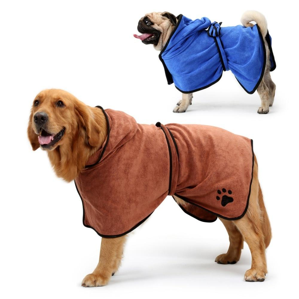 Dog Bathrobe Xs Xl Pet Dog Bath Towel For Small Medium Large Dog