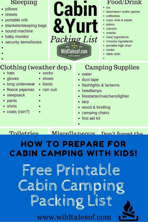 How To Prepare For Cabin Camping With Kids  WildtalesofCom