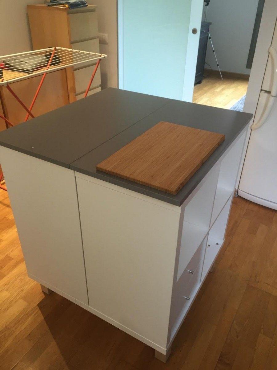 Un Nouvel Ilot Central Cuisine Avec Kallax Ikea Kitchen Ikea Kitchen Cabinets