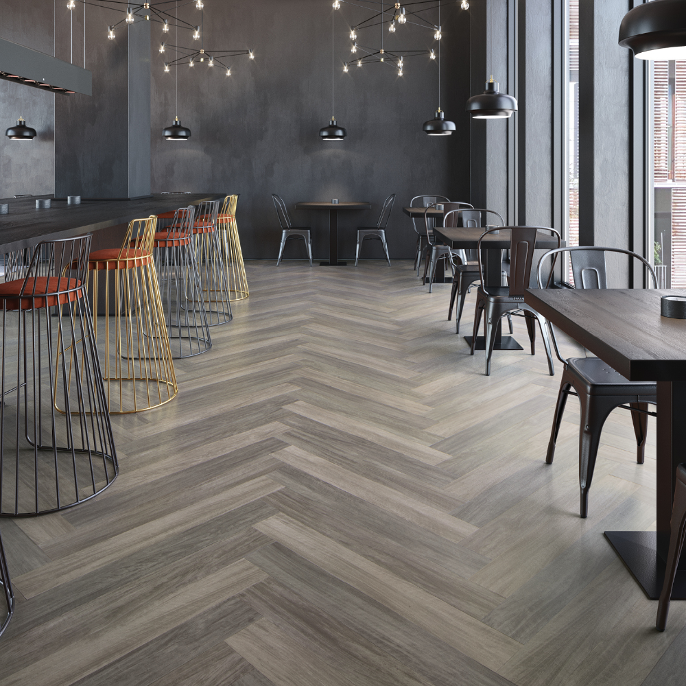 LVT Mannington Select Wood Herringbone tile floors