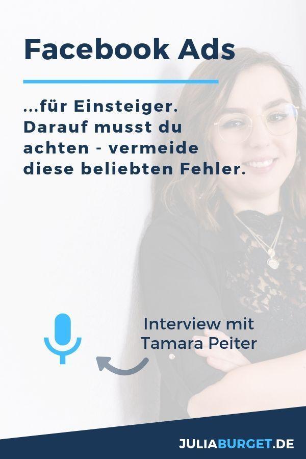 Facebook Ads für Einsteiger mit Tamara Peiter   Blog geld ...