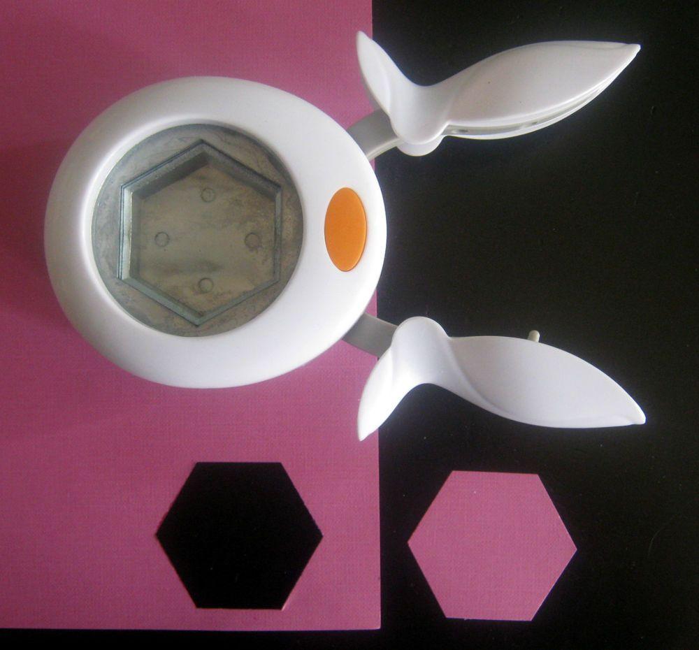 Hexagon paper punch