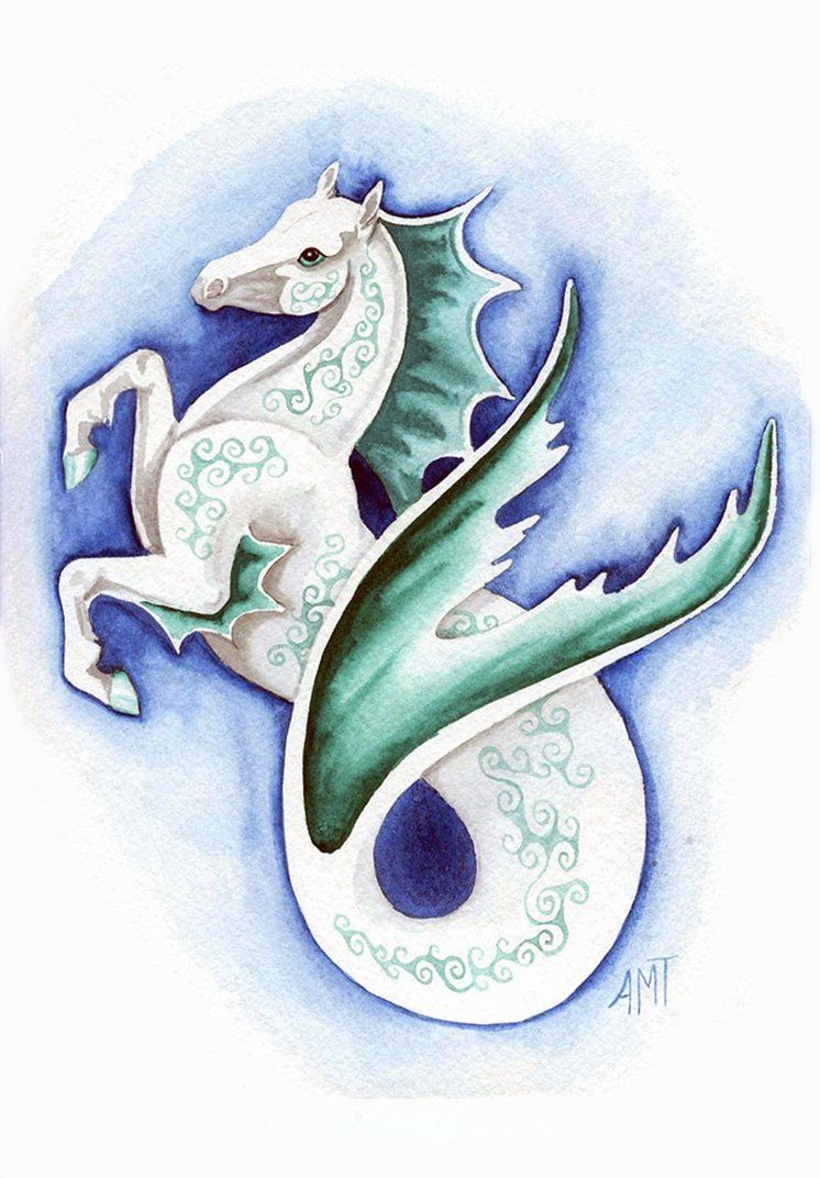 Seahorse By Merimask On Deviantart Tattoo Love Pinterest Percy
