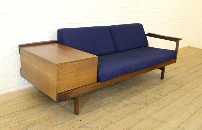 Vintage Guy Rogers Afrormosia Sofa Bed/3 Seater Settee, 1960s Retro  Furniture